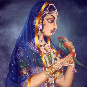 Radha and Parrot